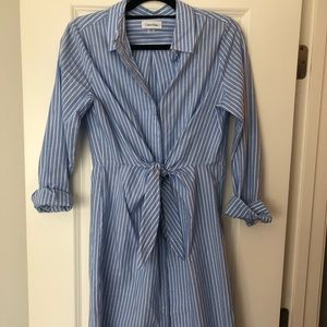 Calvin Klein shirt dress with tie waist